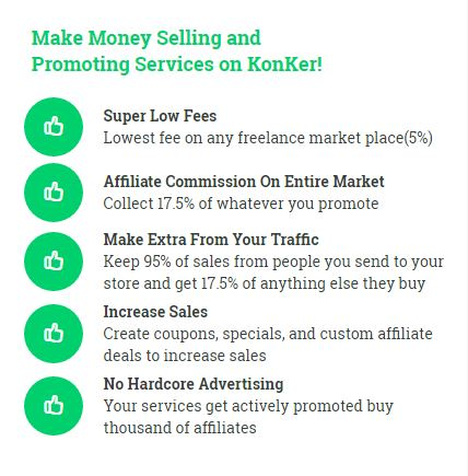 benefits of selling on Konker